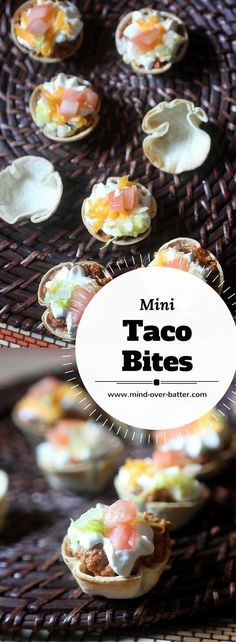Savory Mini Taco Bites - Packed with flavor in mini! www.mind-over-batter.com