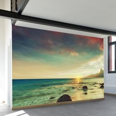 17 best wall murals wallcovering images wall papers, wallpaper, muralssunset beach wall mural