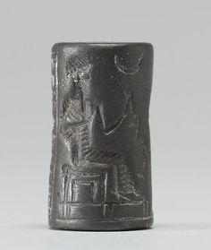 Jasper cylinder seal, Mesopotamia, Uruk Period, 4100 BC ...