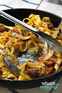 Tagliatelle and Sausage Skillet #recipe