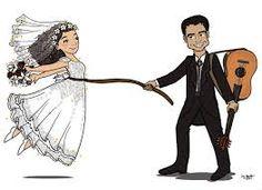 Znalezione obrazy dla zapytania bride and groom drawing