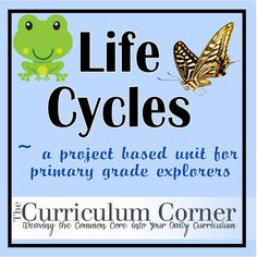 Life cycle - Free printables for primary grades. Includes about 9 printables. The butterfly life cycle is nice and in color :o) by jannie Kindergarten Projects, Kindergarten Science, Science Classroom, Teaching Science, Science Activities, Sequencing Activities, Spring Activities, Science Education, Teaching Ideas