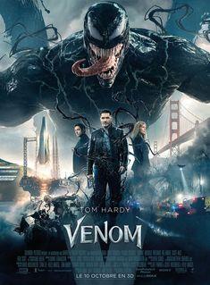 Tom Hardy stars as Eddie Brock, the host for Venom. The film also stars Michelle Williams, Riz Ahmed, Jenny Slate and Woody Harrelson. We get to see Venom [. Poster Marvel, Marvel Comics, Films Marvel, Marvel Movie Posters, Marvel Venom Movie, Superhero Poster, Film Venom, Tom Hardy, Captain Marvel