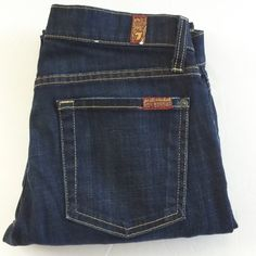 "7 FOR ALL MANKIND SLIM CIGARETTE JEANS LIKE NEW. EXCELLENT CONDITION. 30"" inseam. Dark rinse. 7 for all Mankind Jeans Skinny"