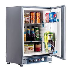 SMAD Electric/Gas RV Compact Refrigerators with Piezo Ign...