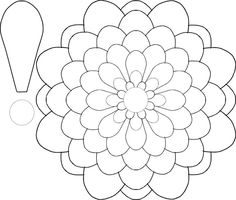 different size flower templates - Google Search