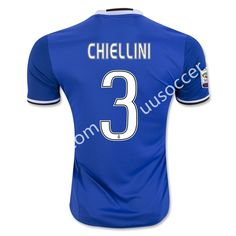 2016-17 Juventus Away CHIELLINI Blue Thailand Soccer Jersey AAA