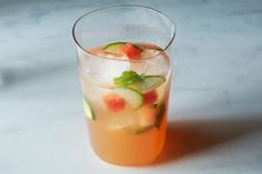 Louisa Shafia's Watermelon, Mint, and Cider Vinegar Tonic - From The New Persian Kitchen #cocktail #food52
