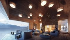 Mountain Lodge on Sognefjorden - by Haptic