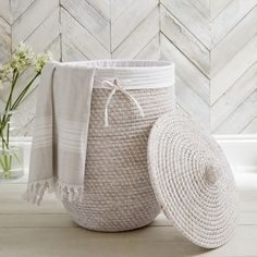 We love our Alibaba Collection, not least because we've spent years searching for this exotic yet relaxed style of basket. Complete with a handy white cotton liner that can be easily removed to carry your clothing to the washing machine (and can Bathroom Laundry Baskets, Laundry Storage, White Laundry Basket, Laundry Room, Laundry Cupboard, Laundry Bags, Smart Storage, Closet Storage, The White Company