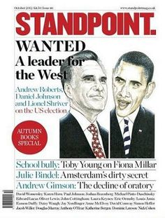 Magazine Cover - Standpoint  (October 2012) UK - Mitt Romney & Barack Obama