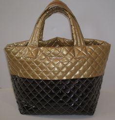 228b052f7d21 NWT MZ WALLACE $225 BLACK GOLD SMALL METRO TOTE QUILTED BAG PURSE #MZWallace  #TotesShoppers