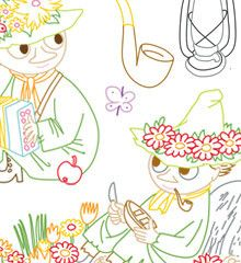 MOOMIN / Snufkin - Embroidery Patterns