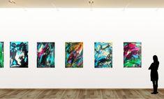 """DYNAMISCH EXPRESSIV"" Künstlerin Gordana Veljacic-Graz Photo Wall, Polaroid Film, Decor, Graz, Painting Abstract, Photograph, Decoration, Decorating, Deco"