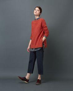 Women's Soft Spun Merino Pullover - Mujer informal estilo masculino :)