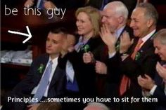 Ted Cruz at the State of the Union address. Not only is he awesome, he is unimpressed with Obama and his lies....Love it!