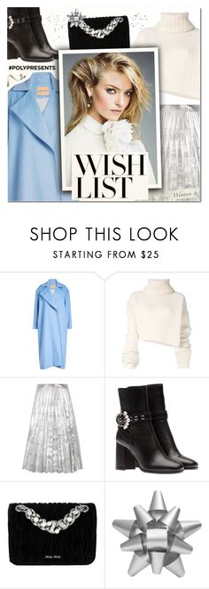 """""""#PolyPresents: Wish List VI"""" by vampirella24 ❤ liked on Polyvore featuring Maggie Marilyn, Ann Demeulemeester, Gucci, Miu Miu and Martha Stewart"""