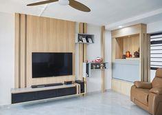 Carpenters Interior Design singapore BTO Design  HDB Resale Design Condominium Design Landed Property Design Altar Design, Condo Interior Design, Tv Unit, Interiores Design, Wall Units, Bedroom, Home, Ad Home, Bedrooms