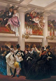 Eugène Giraud - Le bal de l'opéra (1866)