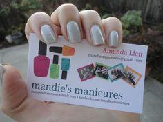 skulls & glossbones w/ mandie's manicures' business card :)