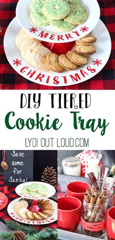 Such a fun and easy DIY for your Christmas cookie display!