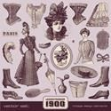 The fashion by decades, years 1900-1910