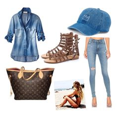 """""""Perfect everyday outfit❤️"""" by isssiii on Polyvore featuring Hudson Jeans, Louis Vuitton and SO"""