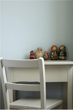 An inspirational image from Farrow and Ball, walls : borrowed light: waiting room : lower part of the walls
