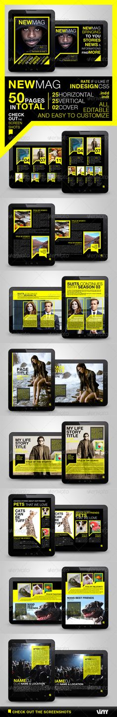 Newmag Tablet Magazine Template.