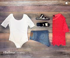 #BellmurVerano  ¡Arde la ciudad y también nuestro elegido de hoy!  - Body // BDBELL02 - Blusa Granate // BLBELL33 - Short // ÁMBAR - Sandalias Metálicas // ZBELL128  Te esperamos en nuestro local de Montevideo Shopping ☺