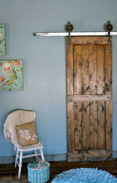 replace the hall bi-fold doors with sliding rustic doors, Closet Door Hardware, Barn Door Closet, Sliding Wood Doors, Barn Style Sliding Doors, Barn Door Rollers, Doors Galore, Steel Barns, Ibiza, Cottage Renovation