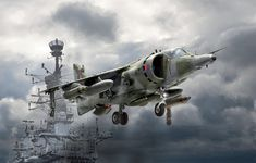 The Harrier is probably the most famous aircraft with vertical/short takeoff and landing . Airplane Fighter, Fighter Aircraft, Fighter Jets, Falklands War, Military Equipment, Aviation Art, Military Art, Military Aircraft, Vintage Photos