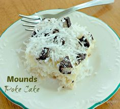 table for seven: Mounds Poke Cake