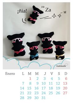 Fraskilandia Calendario enero ninja gratisfree ninja january calendar