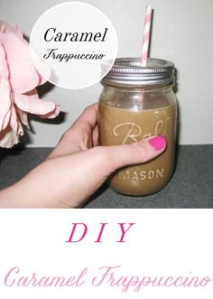 DIY Caramel frappuccino, Starbucks at home, Dairy free option