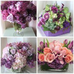Beautiful purple flower arrangements from the Hidden Garden.