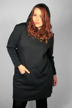 """super-chic"""" hooded dress from the latest a/w collection from hope"""