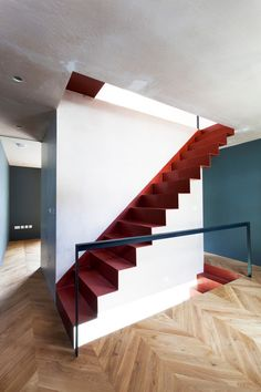 Uxbridge Street by VW+BS stairs architecture design Home Stairs Design, Interior Staircase, Arch Interior, Interior And Exterior, Staircase Ideas, Interior Design, Minimalist Architecture, Architecture Details, Interior Architecture