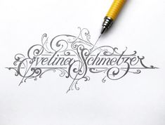 Evelina designed by Martin Schmetzer. Connect with them on Dribbble; the global community for designers and creative professionals. Vintage Logo Design, Vintage Typography, Typography Art, Graffiti Lettering, Lettering Design, Hand Lettering, Calligraphy Lessons, Calligraphy Text, Victorian Fonts