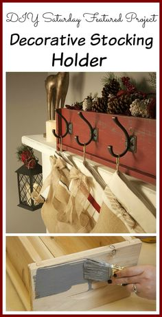 DIY Saturday Featured Project: Decorative Christmas Stocking Holder made from a cedar planter box!