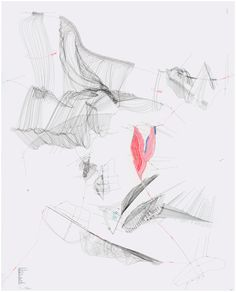 Beautiful diagram-like drawings by Jorinde Voigt