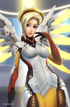 Mercy by EyalDegabli.deviantart.com on @DeviantArt - More Fanart at https://www.pinterest.com/supergirlsart/ #anime #sexy #angel #blizzard #cute #fanart #game #girl #healer #manga #overwatch #pinup #support #wings  #swiss #switzerland #sexy #heal