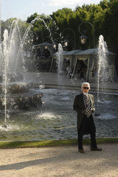 Karl Lagerfeld at Chanel Resort