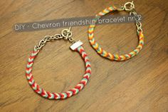 DIY IDEAS: DIY Chevron friendship bracelet