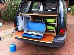 26 Best DIY Surf Van Conversion for Awesome Trips - Camping Minivan Camping, Truck Camping, Camping Hacks, Camping Store, Camping Guide, Camping Trailers, Camping Ideas, Minivan Camper Conversion, Tent Camping