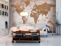 Papier peint Oriental Travels - Carte du monde - Papiers peints