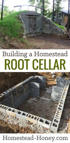 Building a Homestead Root Cellar eBook - A step-by-step guide to building your own homestead root cellar. If you are a DIY homesteader looking for a time-saving and practical solution to your food preservation needs, or if self-sufficiency is your goal, Homestead Survival, Homestead Farm, Survival Skills, Survival Tips, Homestead Homes, Homestead Gardens, Farm Gardens, Outdoor Gardens, Modern Gardens