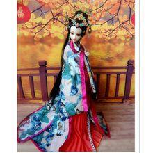 Envío gratis 2016 Popular Vintage princesa china muñeca 32 cm, Material plástico de la dinastía Tang famosa princesa niña muñeca(China (Mainland))