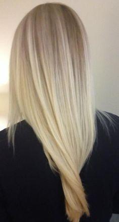 Platnium blonde hair ❤️ .