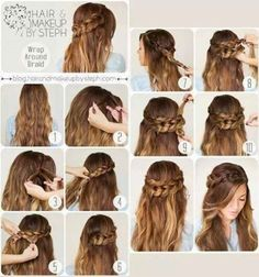 wrap around braid #hairstyle #hairdo #halfupdo #longhair - bellashoot.com